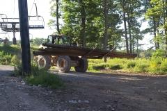 Laurel Mt - Hauling poles-min